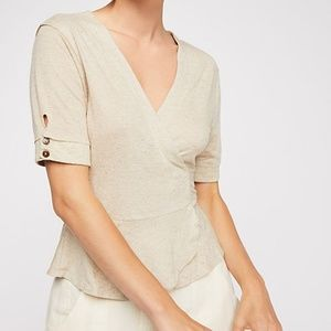 Free People Oatmeal If Only Top